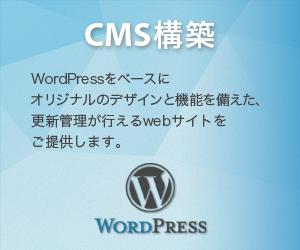 CMS構築 WordPressをベースにオリジナルのデザインと機能を備えた、更新管理が行えるwebサイトをご提供します。